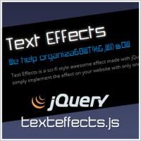 jQueryテキストエフェクトプラグイン